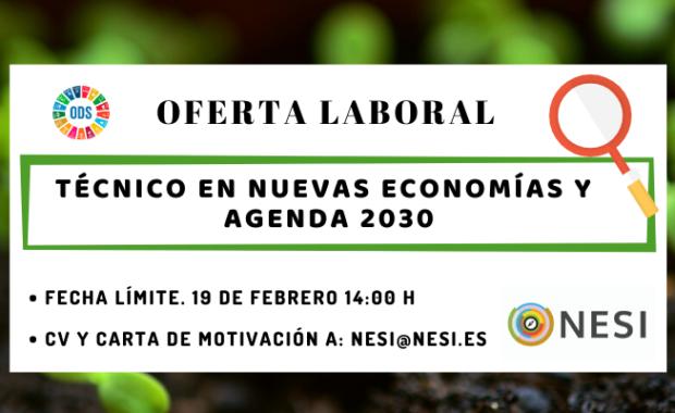 Oferta laboral Nueva Economía Agenda 2030