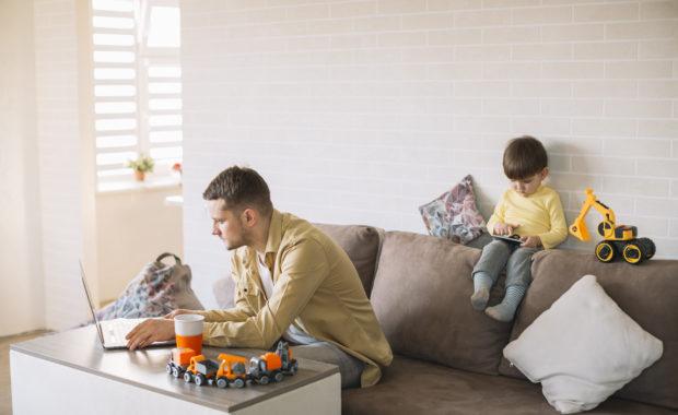 teletrabajo equipo de trabajo trabajar en casa con hijos NESI